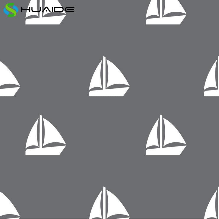 50pcs/set White Sail Boats Wall Stickers For Kids Room Boys Girl Bedroom Nursery Baby Wall Decals Custom Color Child's Gift A320