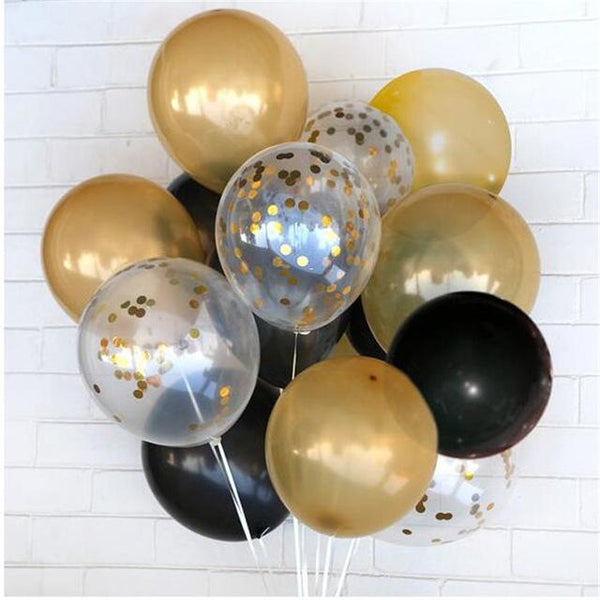 50-Pieces: Confetti Latex Party Balloons