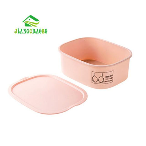 JiangChaoBo Sub-Box Underwear Storage Box Underwear Socks Storage Lattice Home Plastic Bra Underwear Finishing Box