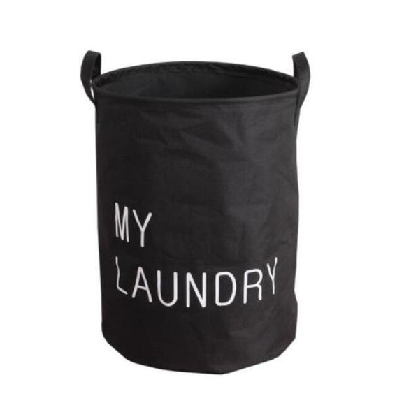 SDARISB Fabric Laundry Basket Bathroom Laundry Hamper Storage Bag Bath Sorter Dirty Toys No Cover Portable Black White Gray