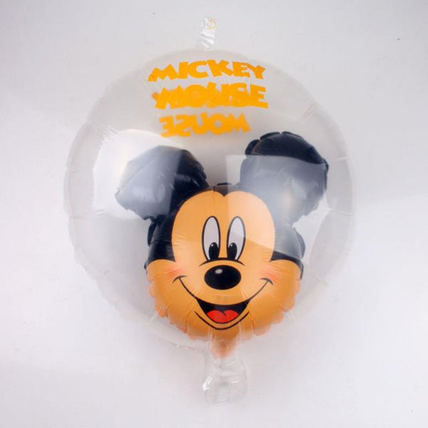 GOGO PAITY  18-inch New Mickey Minnie transparent aluminum balloon children 's holiday party layout decorative balloon