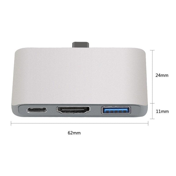 Thunderbolt Type C Splitter to Type-C, USB, HDMI Ports
