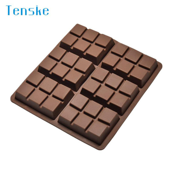 Chocolate silicone mold- 6 Cell Medium Chocolate Bar