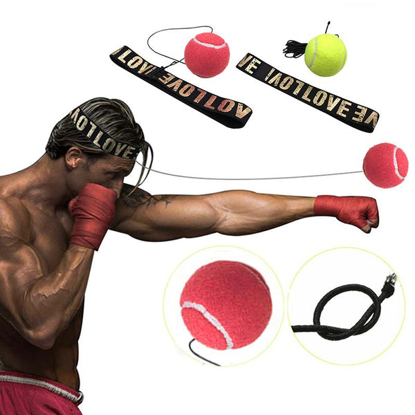 Reflex Speed Boxing Exercise Ball and Head Band