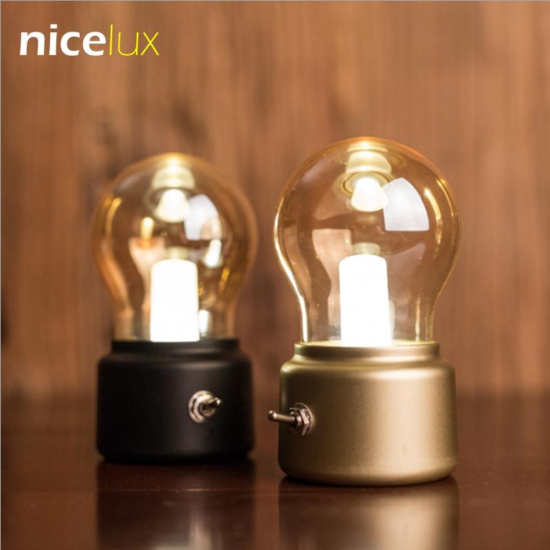 Vintage LED Retro USB Rechargeable Luminaire Night Light Bulb