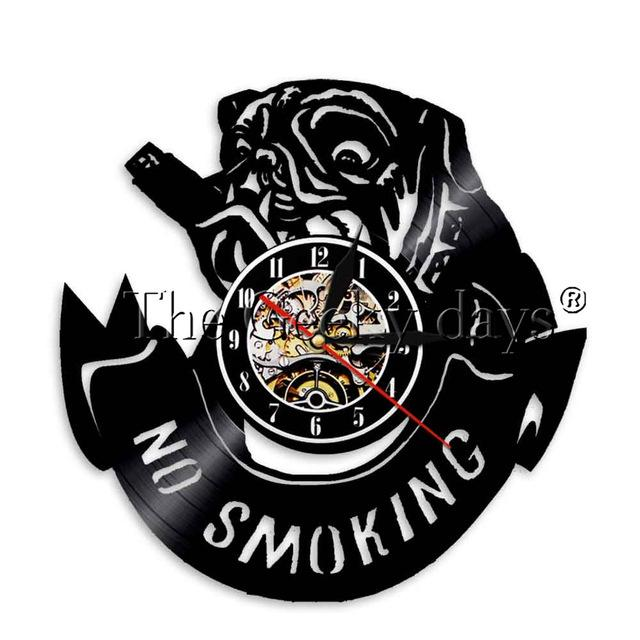 Smokey Bulldog Wall Clock