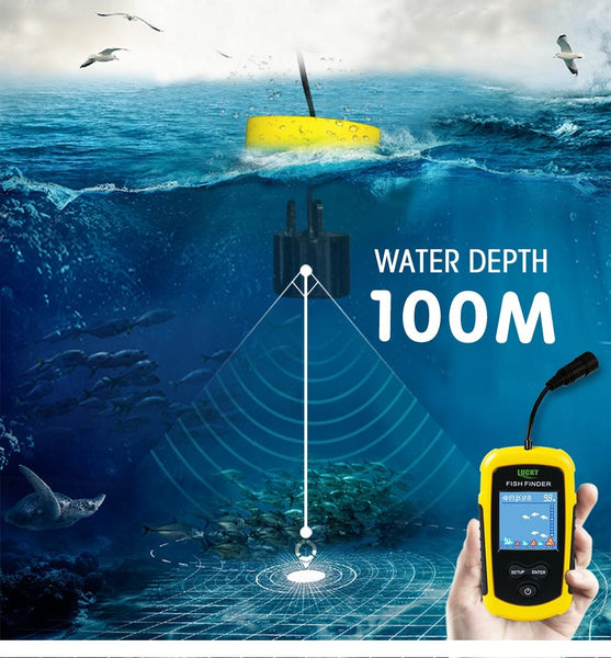 Portable 100M LCD Display Sonar Tech Fish Finder