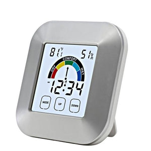 Electronic LCD Display Indoor Weather Station and Alarm Clock