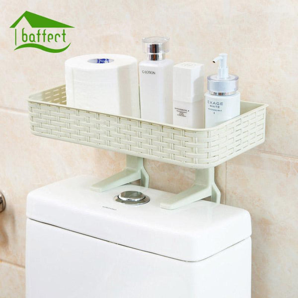 NEW Multifunctional Shelf Free Punching Bathroom Shelf Wall Hanging Bathroom Accessories Suction Wall Toilet Toilet Storage Tack