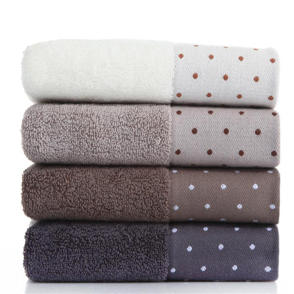 100% Cotton Absorbent Dot Pattern Bathroom Travel Hand Face Towel