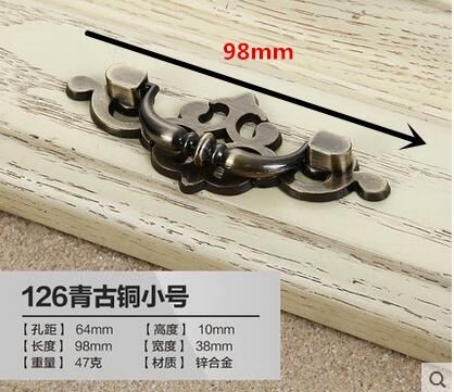 High quality retro kitchen cabinet door handle luxury drawer stealth handle relief craft furniture accessories