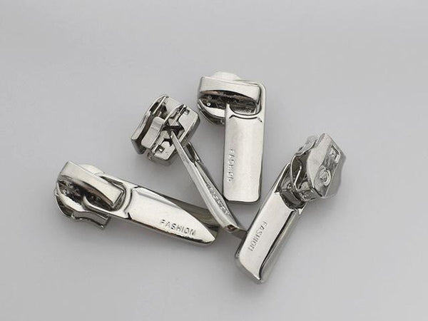 10 Piece: Metallic Zipper Sliders