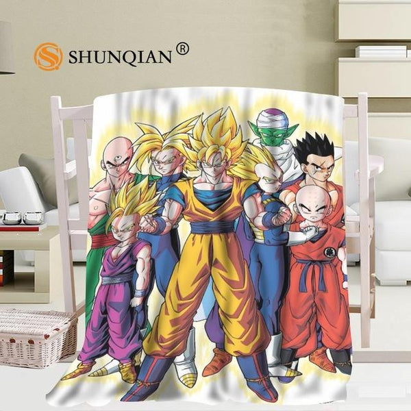 Dragon Ball Z Flannel Throw Blanket