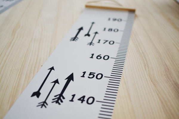 Scandinavian Style Baby Child Kids Height Ruler Growth Size Chart Height Measure Ruler Wall Sticker For Room Home Decoration INS