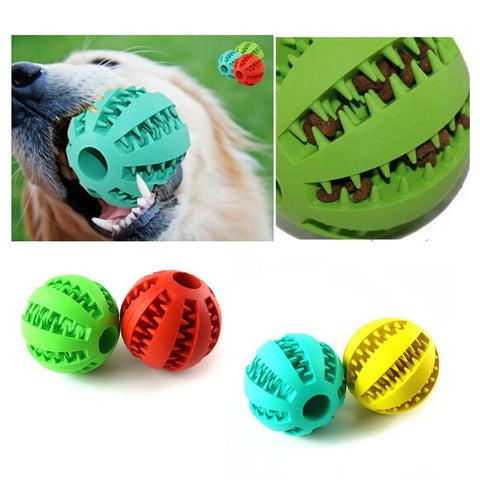 Extra Tough Interactive Rubber Ball Treat Dispensing Dog Toy