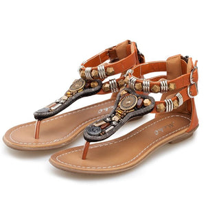 Woman Summer Straps Flat Sandals Flip-flops Beach Sandal Shoes