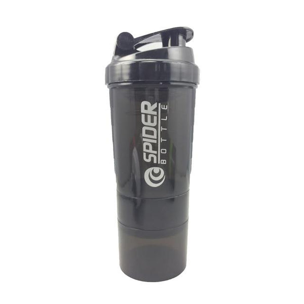 Pro Sport Protein Shaker Water Bottle with Powder and Pill Compartments