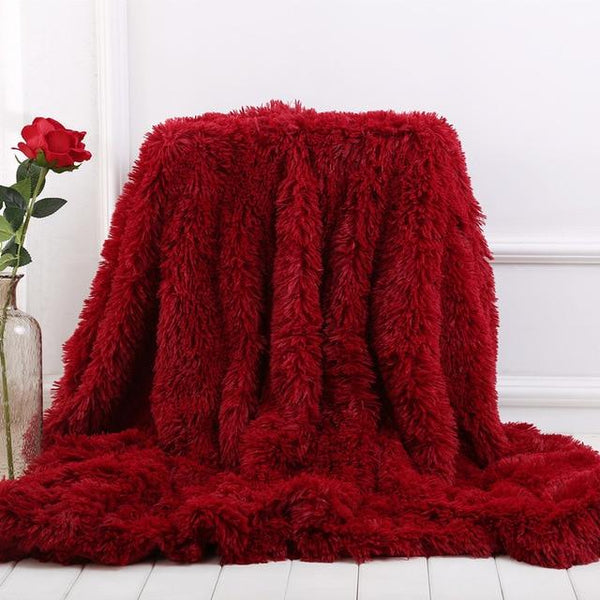 Elegant Super Soft Faux Fur Sherpa Throw Blanket
