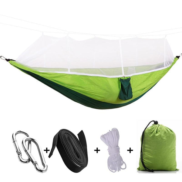 Heavy Duty Portable Outdoor 2 Person Camping Hammock with Mosquito Net