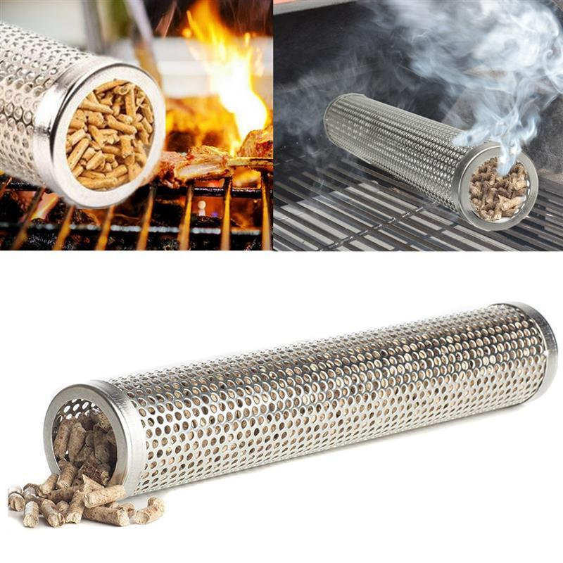 Stainless Steel BBQ Grill Wood Pellet Flavor Smoker