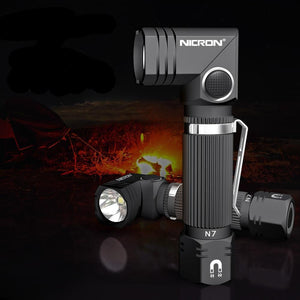 Heavy Duty 90 Degree Adjustable Waterproof LED Flashlight with Magnetic Bottom