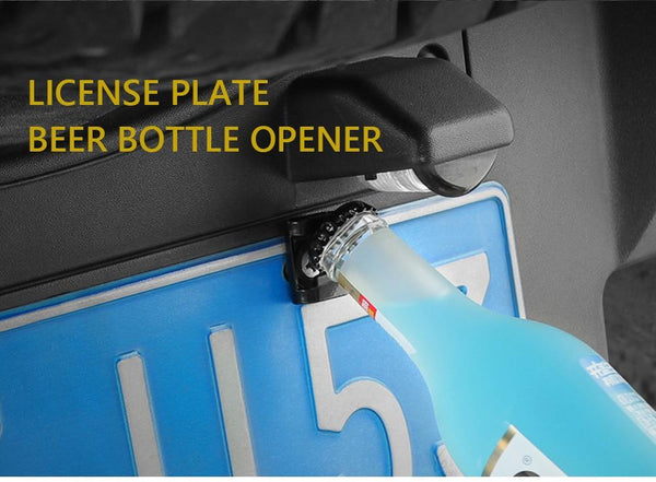 License Plate Bottle Opener Accessory
