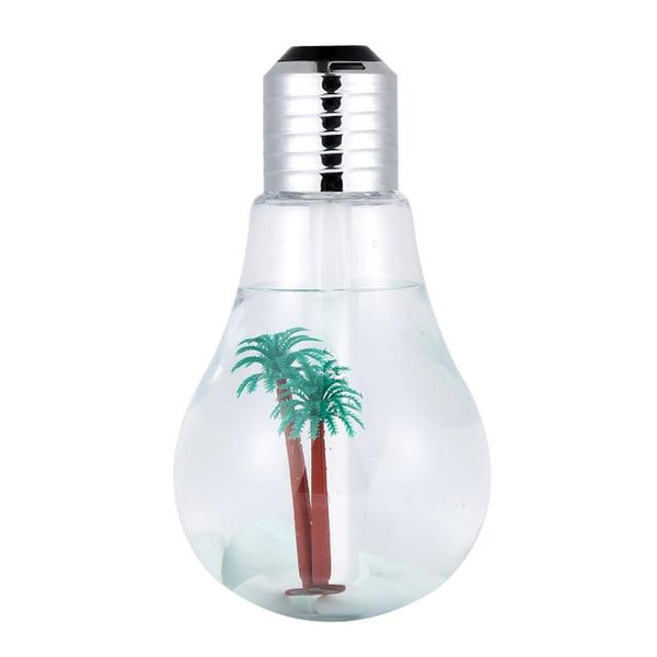 Colorful 400mL USB LED Light Bulb Oil Diffusing Air Humidifier