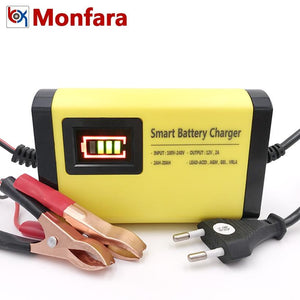 Smart Car Battery Charger Automatic 12V Intelligent LCD Display 220V