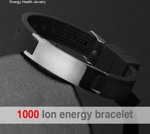 Multi-Color Silicon Magnetic Power Ion Energy Balance Sport Bracelet