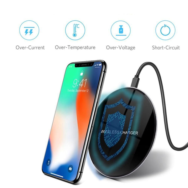 Qi Fast Wireless Mirrored Smart Phone Charger