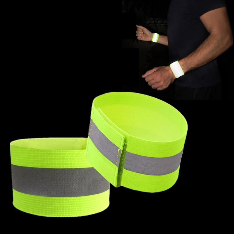 4 Pack: High Visibility Reflective Athletic Wristbands