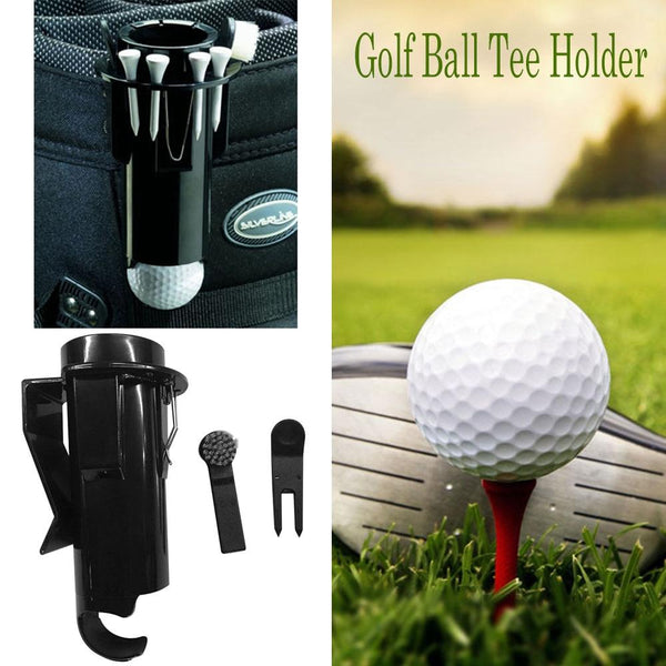Portable Golf Ball Tee Storage Handy Hip or Bag Clip