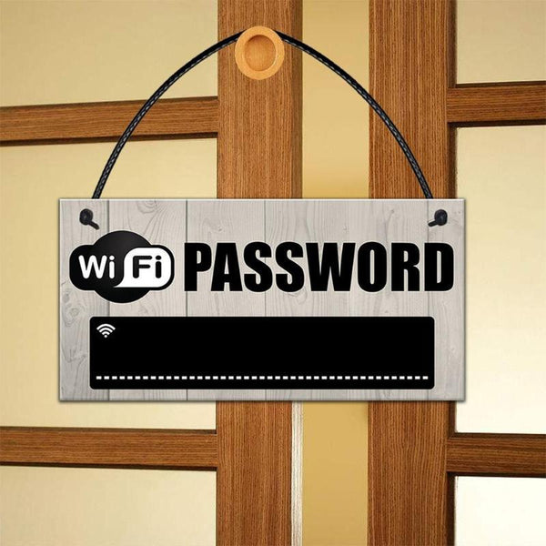 Wooden Hanging WiFi Password Chalkboard Plaque