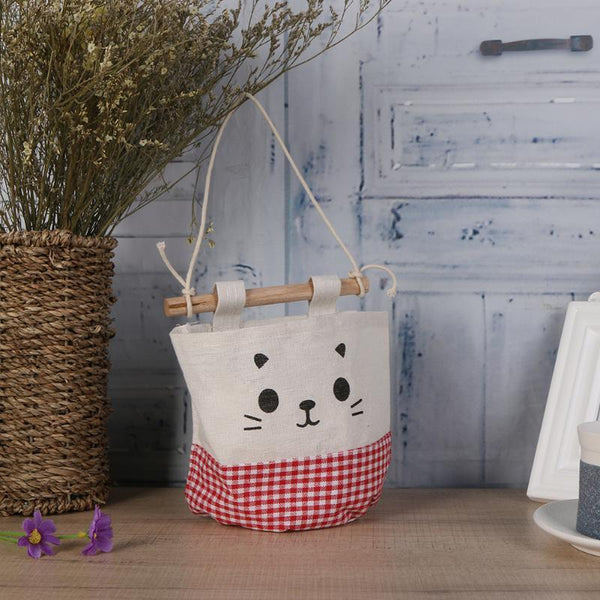Cartoon Cat Wall Hanging Organizer