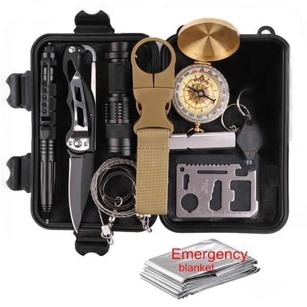11-in-1 Outdoor Multi-Purpose SOS Emergency Survival Kit