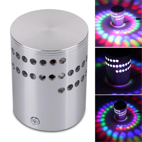 Luminous RGB LED Wall Sticker Light-Up Lamp Fixture with Remote Control