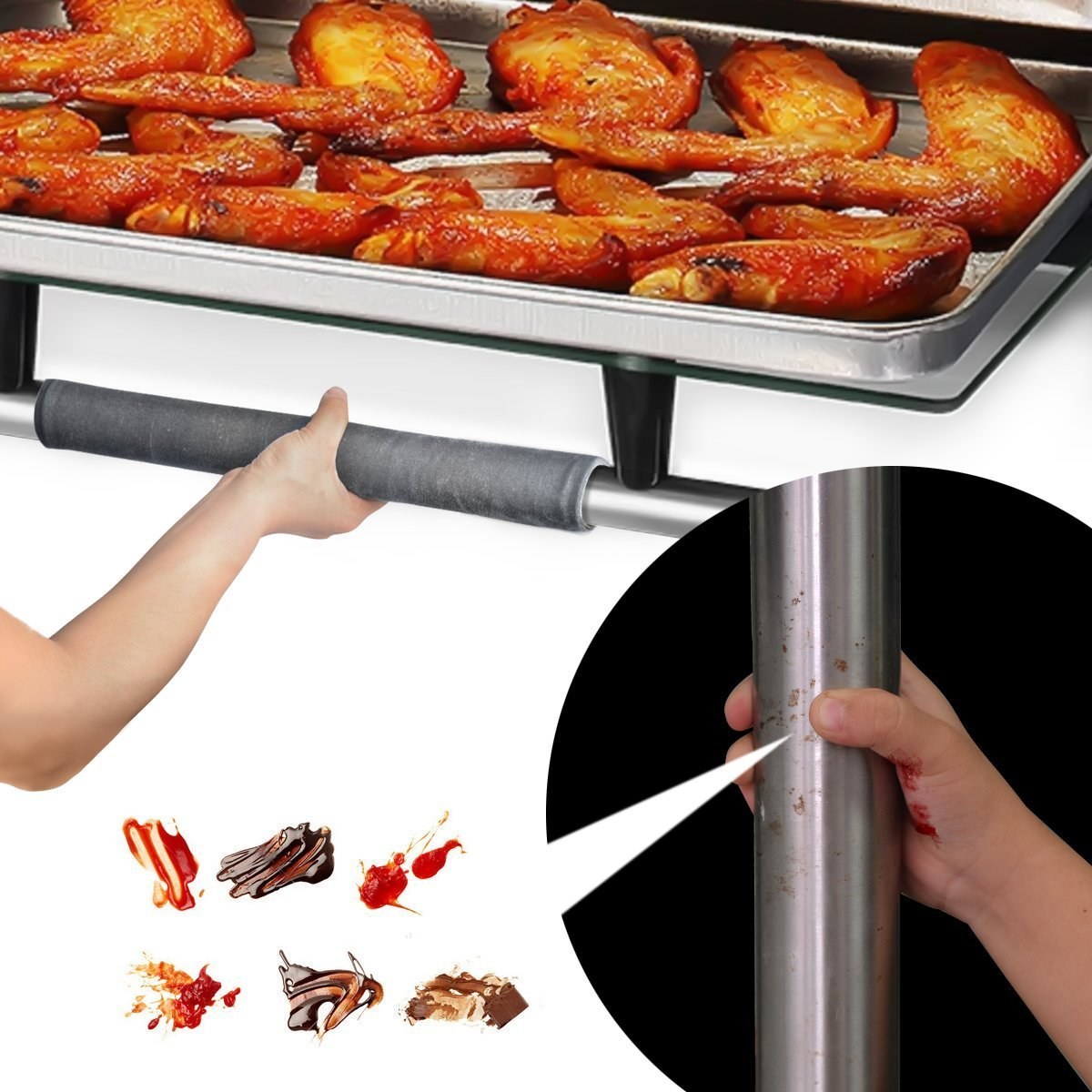 Kitchen Appliance Handle Anti-Skid Cleanliness Protective Covers
