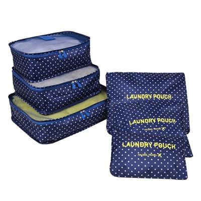 6 Piece: Portable Suitcase Clothes and Luggage Organizer Bags
