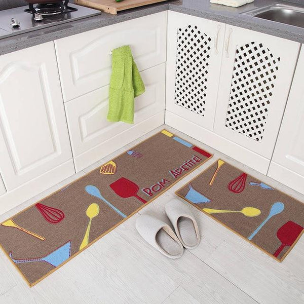 Long Absorbent Non-Slip Kitchen Floor Mats