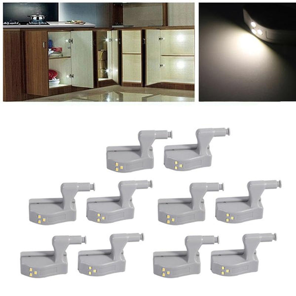 10Pcs LED Cabinet Hinge Light Touch Sensor Lamps