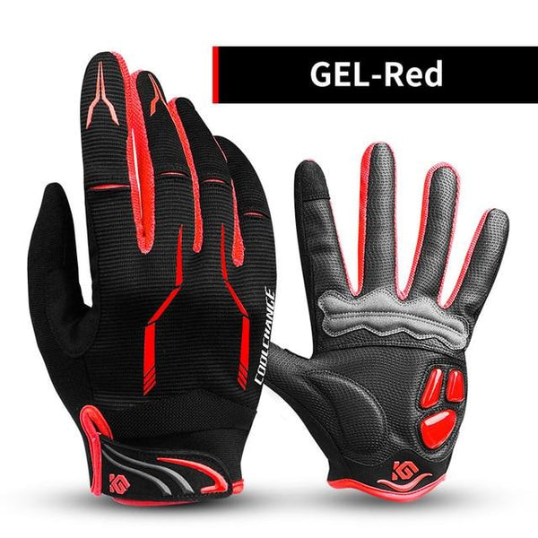 CoolTech Touchscreen Compatible Shockproof Cycling Gloves