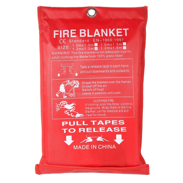 Emergency Fiberglass Flame Retardant Fire Survival Blanket