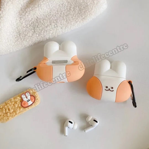 For Airpods Pro 3D Cute Cartoon rabbit Case for Apple Airpods 1 2 3 Wireless Bluetooth Headphone/Earpods Cover