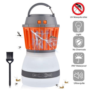 2-in-1 Rechargeable UV Mosquito Zapper Camping Tent Lantern