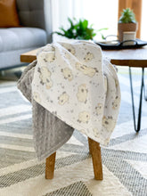 Load image into Gallery viewer, Blankets - Baaa - Soft Baby Minky Blanket