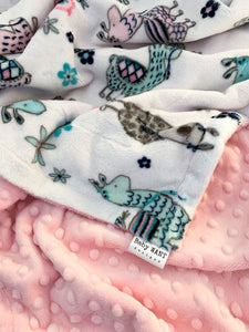 Blankets - Blush Llama - Soft Toddler Minky Blanket