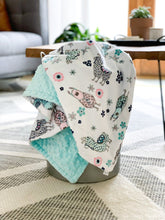 Load image into Gallery viewer, Blankets - Blush Llama - Soft Toddler Minky Blanket