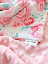 Load image into Gallery viewer, Blankets - Blush Rosie - Soft Baby Minky Blanket