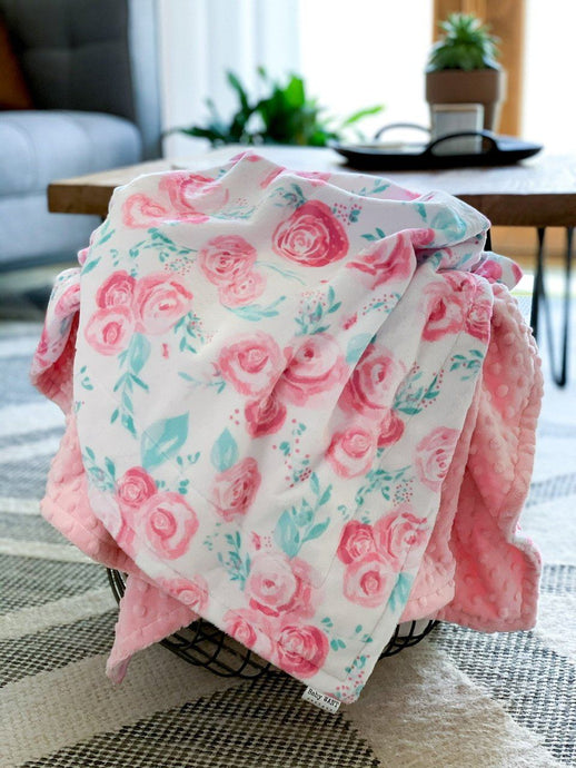 Blankets - Blush Rosie - Soft Youth Minky Blanket