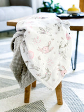 Load image into Gallery viewer, Blankets - Bunny Hop - Soft Baby Minky Blanket